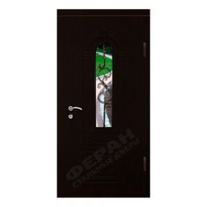 Входные двери Феран Модель Стекло 9 Ковка 5