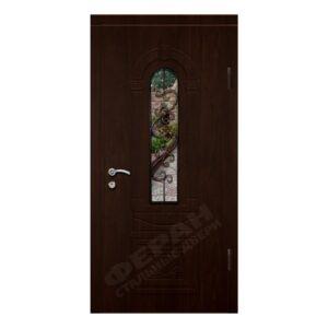 Входные двери Феран Модель Стекло 9 Ковка 6