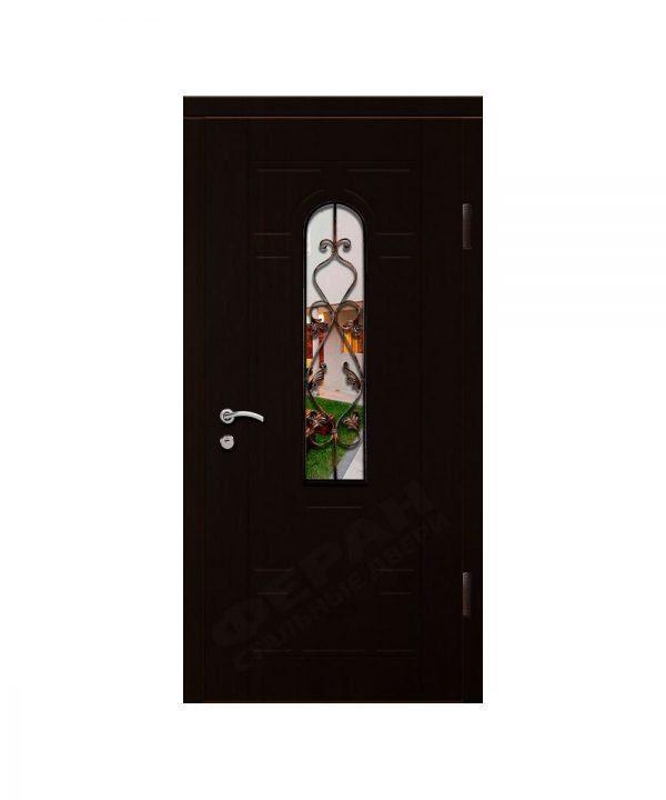 Входные двери Феран Модель Стекло Н122 Ковка 2