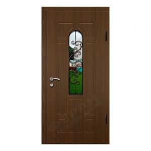 Входные двери Феран Модель Стекло Н122 Ковка 6