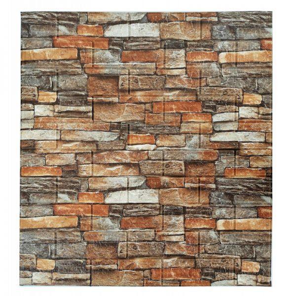 Самоклеющиеся 3д панели Камень 700*770мм цвет 58