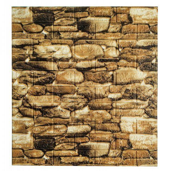 Самоклеющиеся 3д панели Камень 700*770мм цвет 60