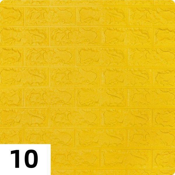 Самоклеющиеся 3д панели Кирпич 700*770мм цвет 10 (Желтый)
