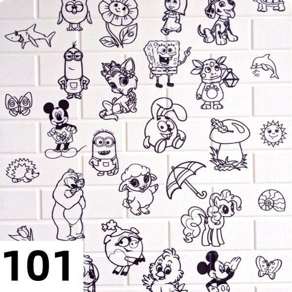 Самоклеющиеся 3д панели Детские 700*770мм цвет 101 (Расскраска)