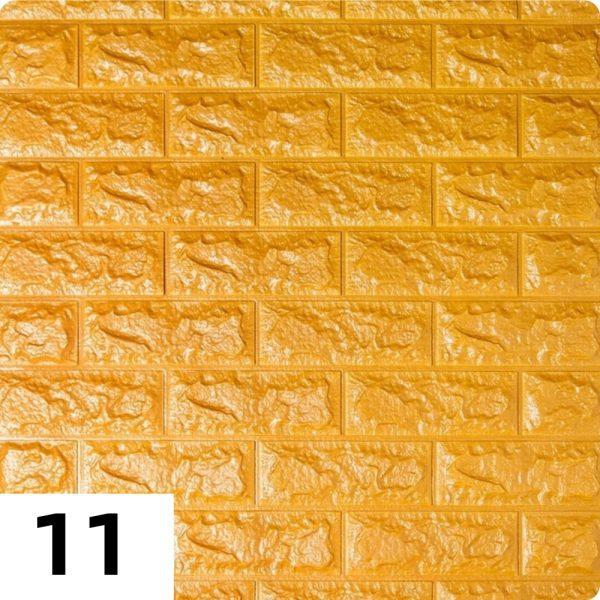 Самоклеющиеся 3д панели Кирпич 700*770мм цвет 11 (Золотой)