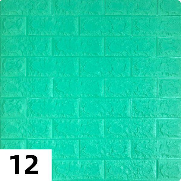 Самоклеющиеся 3д панели Кирпич 700*770мм цвет 12 (Мятный)