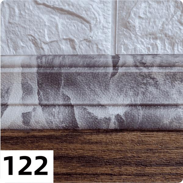 Самоклеющиеся Багет (плинтус) 2350*80мм цвет 122 (Черный мрамор)