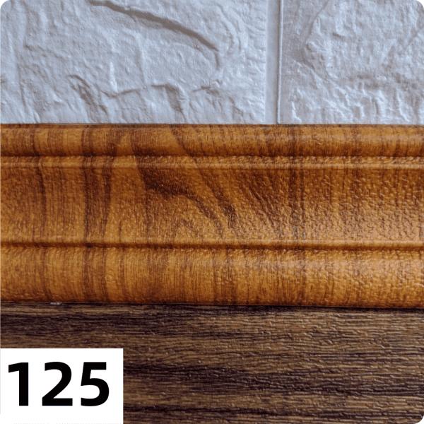 Самоклеющиеся Багет (плинтус) 2350*80мм цвет 125 (Золотой дуб)