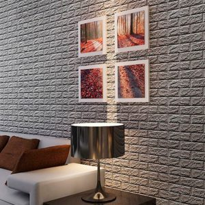 Самоклеющиеся 3д панели Кирпич 700*770мм цвет 17 (Серебро)