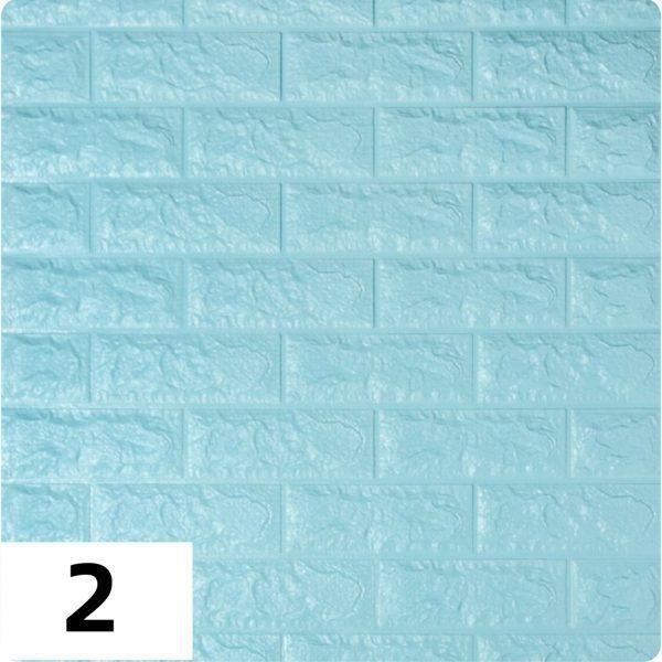 Самоклеющиеся 3д панели Кирпич 700*770мм цвет 2 (Бирюза)