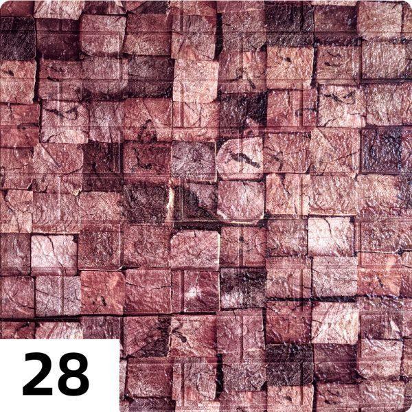 Самоклеющиеся 3д панели Миксы 700*770мм цвет 28 (Брусы)