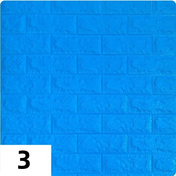 Самоклеющиеся 3д панели Кирпич 700*770мм цвет 3 (Синий)