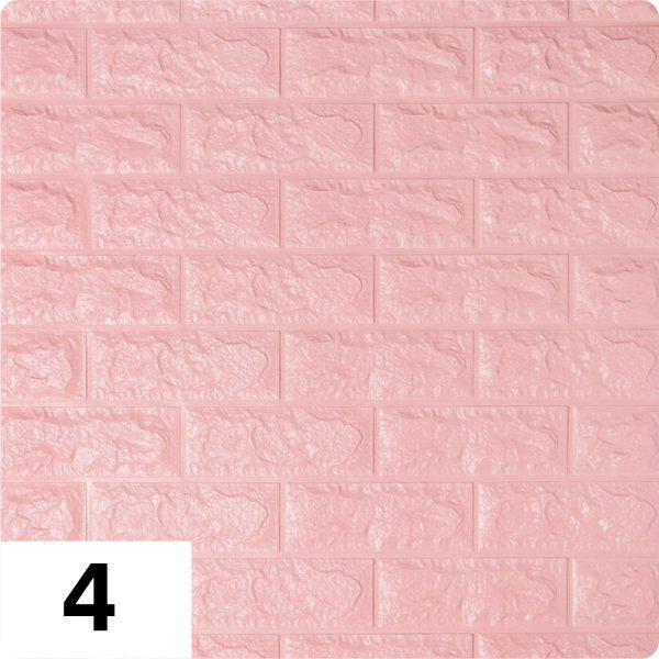 Самоклеющиеся 3д панели Кирпич 700*770мм цвет 4 (Розовый)