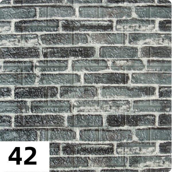Самоклеющиеся 3д панели Екатеринославский кирпич 700*770мм цвет 42 (Серый)