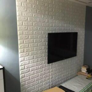 Самоклеющиеся 3д панели Кирпич 700*770мм цвет 1 (Белый)