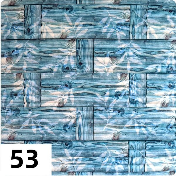 Самоклеющиеся 3д панели Бамбук 700*700мм цвет 53 (Бирюзовый)