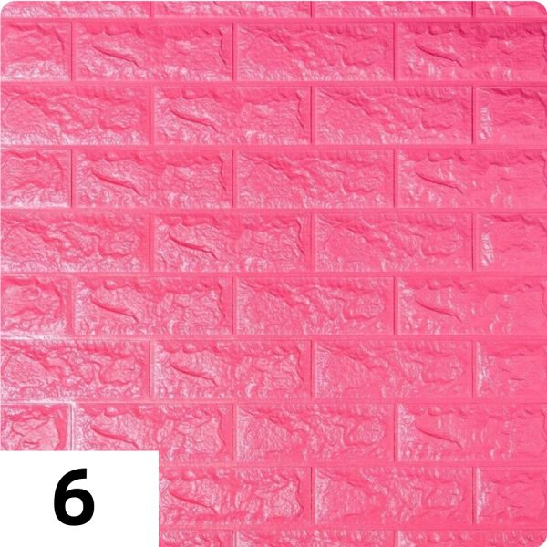 Самоклеющиеся 3д панели Кирпич 700*770мм цвет 6 (Темно-розовый)