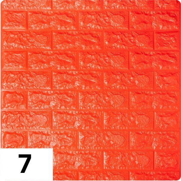Самоклеющиеся 3д панели Кирпич 700*770мм цвет 7 (Оранжевый)
