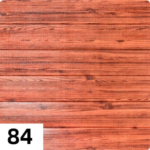 Самоклеющиеся 3д панели Дерево 700*700мм цвет 84 (Красный)