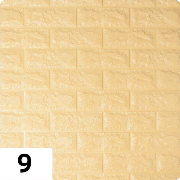 Самоклеющиеся 3д панели Кирпич 700*770мм цвет 9 (Бежевый)