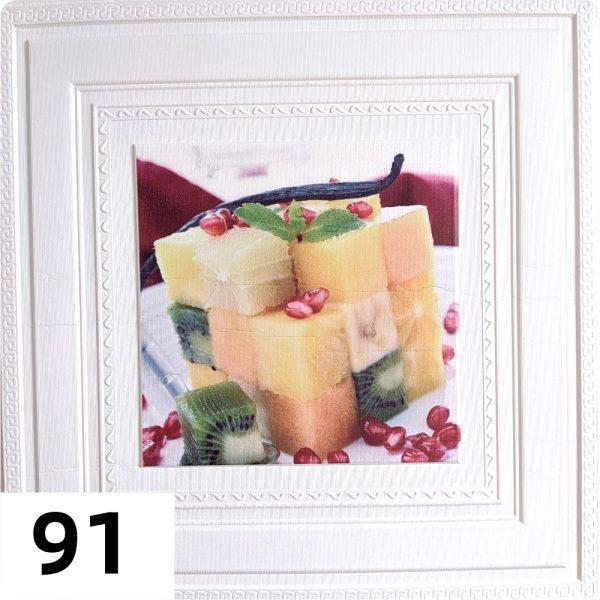 Самоклеющиеся 3д панели Картины 700*700мм цвет 91 (Фрукты)