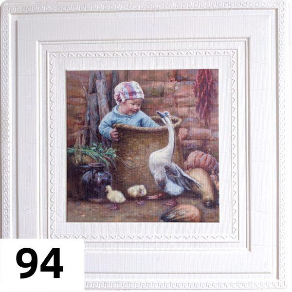 Самоклеющиеся 3д панели Картины 700*700мм цвет 94 (Гусь)