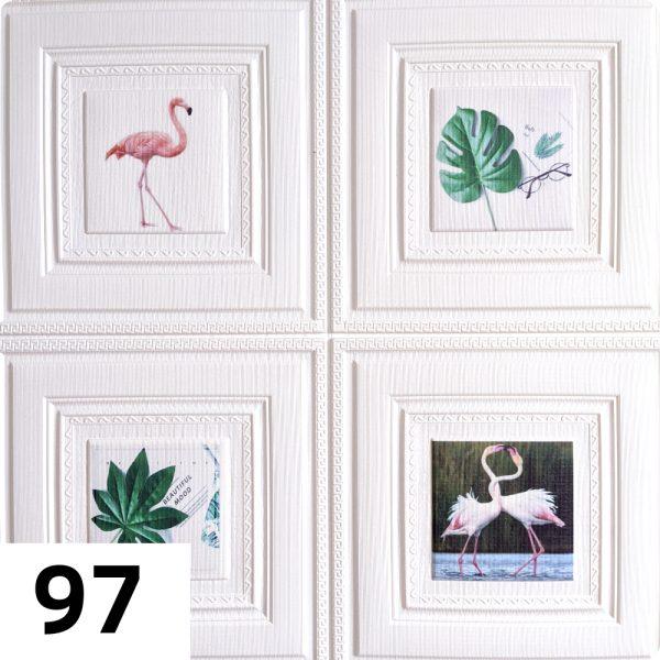 Самоклеющиеся 3д панели Картины 700*700мм цвет 97 (Фламинго)
