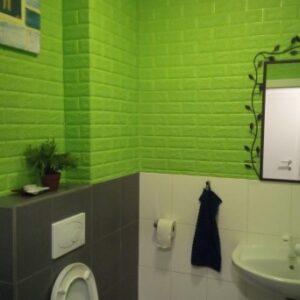 Самоклеющиеся 3д панели Кирпич 700*770мм цвет 13 (Зеленый)