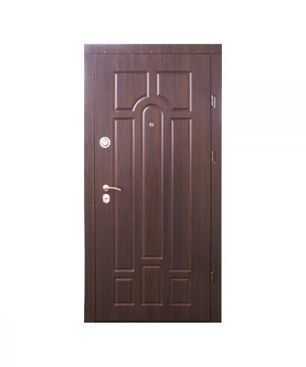 Входные двери ФОРТ Эконом Классик 960 Пр Квартира  орех темный