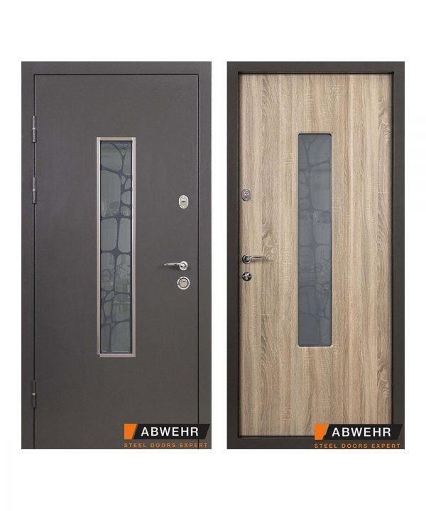Входные двери Abwehr модель Solid Glass Серия Defender _Kale