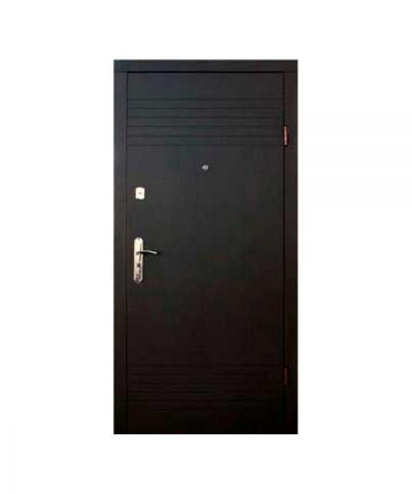 Входные двери Форт Эконом Дуэт 860 Л Улица венге серый горизонт