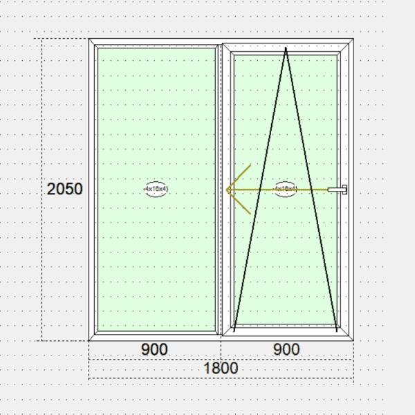 Межкомнатные сдвижные двери S500 1800*2050