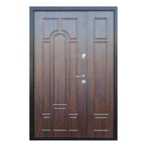 Входные двери форт Стандарт Метал/МДФ  Классик 1200 Пр медь антик/орех темный