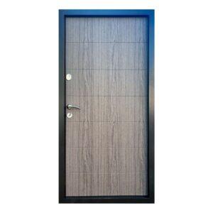 Входные двери форт Стандарт Метал/МДФ  Горизонталь 860 Пр графит 9975 /дуб вулканический