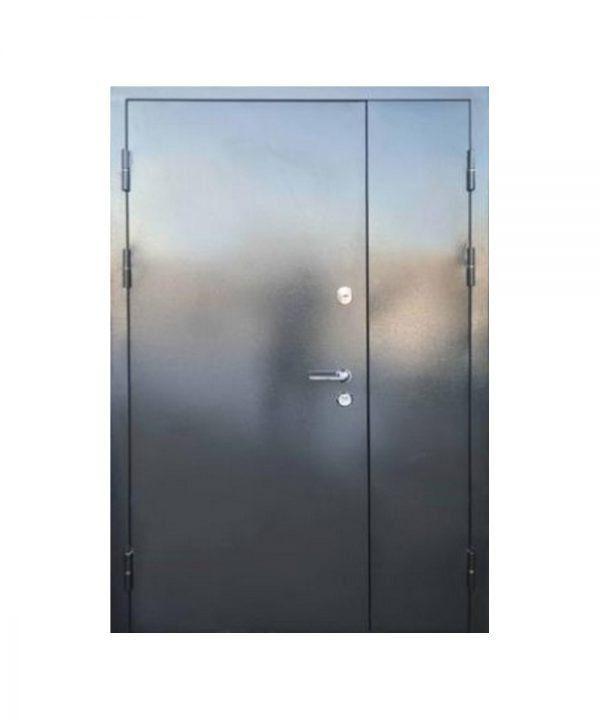 Входные двери форт Стандарт Метал/МДФ  Горизонталь 1200 Пр графит 9975 /дуб вулканический