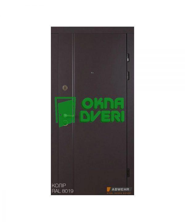 [Коллекция 2020] Входные двери модель Astera (цвет RAL 8019 + Дуб немо серебристый) комплектация Classic