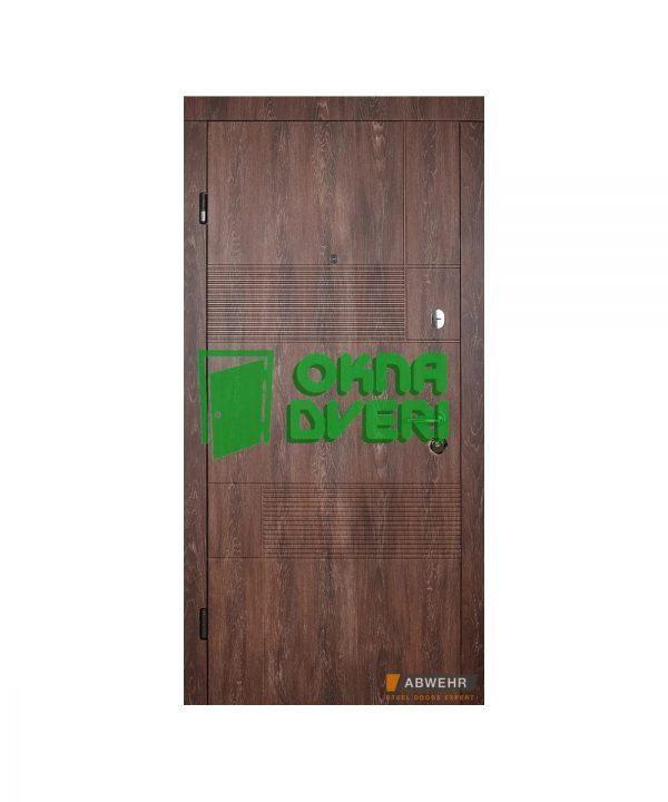 [Коллекция 2020] Входные двери модель Duo (цвет Дуб портовый + Сонома) комплектация Classic