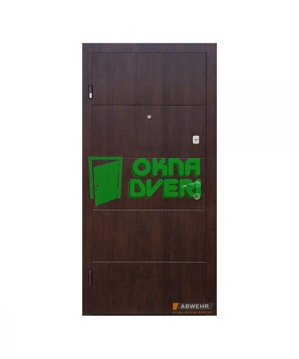 [Коллекция 2020] Входные двери модель Leavina (уличная пленка Темный орех) комплектация Nova