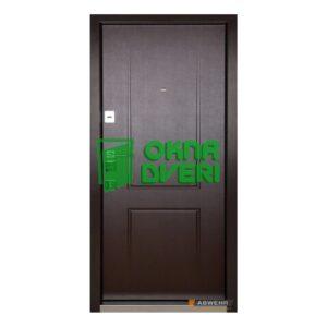 [Коллекция 2020] Входные двери модель Priority (цвет Венге темный) комплектация Megapolis