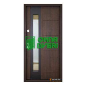 [Коллекция 2020] Входные двери с терморазрывом Абвер модель Ufo (цвет Ral 8019 + ТО) комплектация COTTAGE