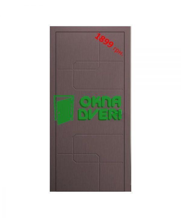 Межкомнатные двери Кубо Шелк х-белый Глухое