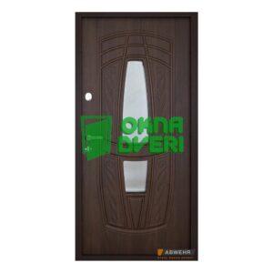 [Складская программа] Входные двери со стеклом Abwehr модель Gracia Glass (цвет Ral 8019 + уличная ТО) комплектация Classic