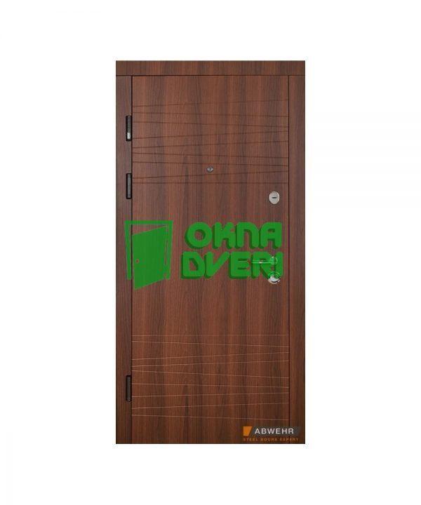 Входные двери модель Brunella (цвет Шоколадный орех + Елка карпатсья) комплектация Classic