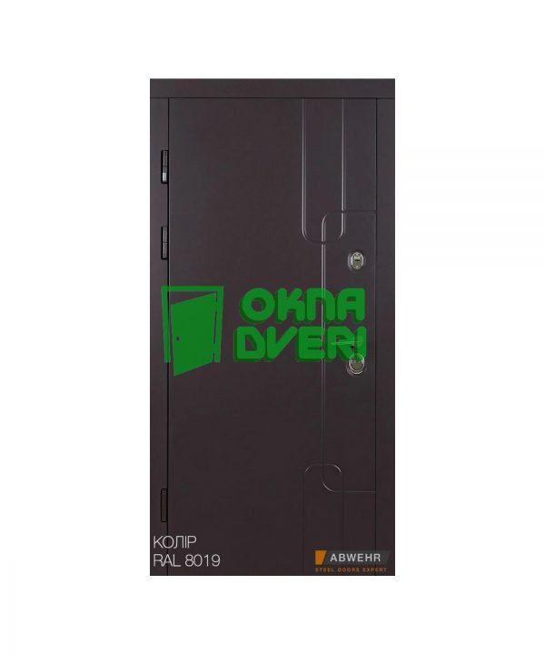 [Коллекция 2020] Входные двери с терморазрывом Абвер модель Softana (цвет RAL 8019 + Канадский Дуб Арктик) комплектация COTTAGE