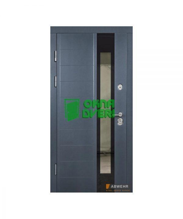 [Коллекция 2020] Входные двери Абвер с терморазрывом модель Ufo (цвет Ral 7016 + Антроцит) комплектация COTTAGE