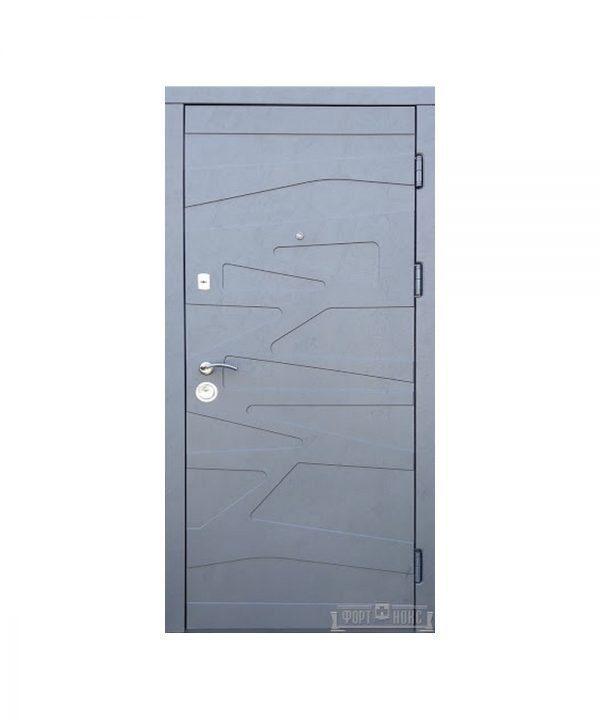 Входные двери Форт Нокс АКЦЕНТ New (МДФ МДФ)   цемент маренго /цемент миндаль DG - 43