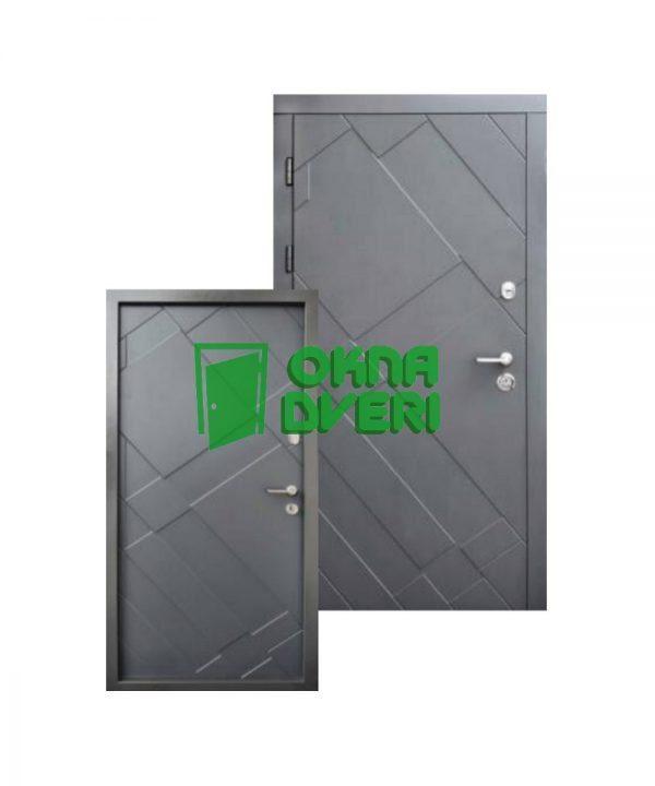 Входные двери Форт Стандарт Плюс Графит 960 Л Улица графит