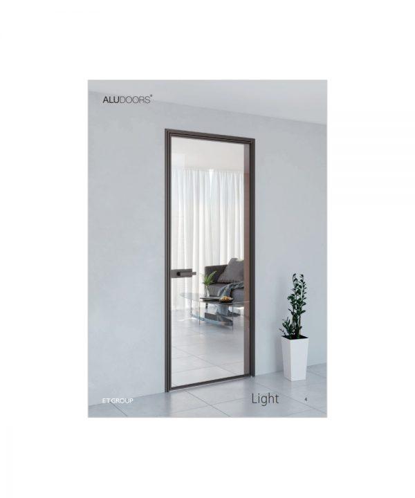 Стеклянно алюминиевые двери модель Light