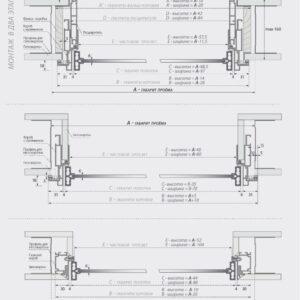 Стеклянно алюминиевые двери модель Line