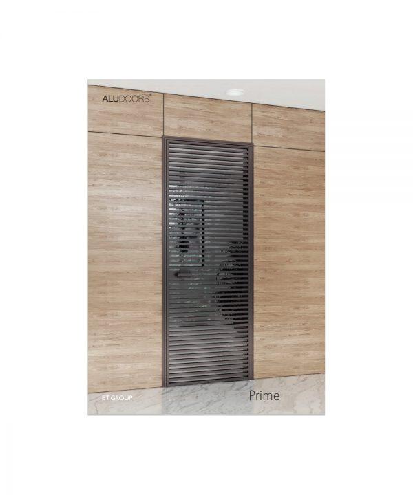 Стеклянно алюминиевые двери модель Prime